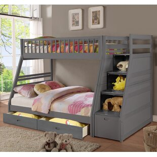 Mimi Twin Over Full Bunk Bed with Drawers by Harriet Bee