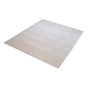 Reviews Palm Bay Handmade Beige/White Area Rug By Langley Street