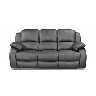 Neve Genuine Leather 3 Seater Reclining Sofa By Ebern Designs