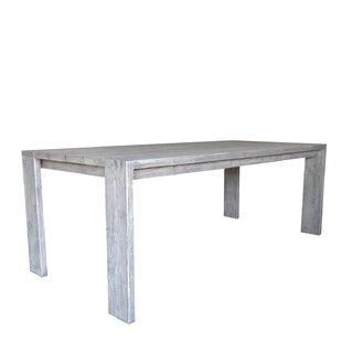 Gracie Oaks Kriszara Solid Wood Dining Ta..