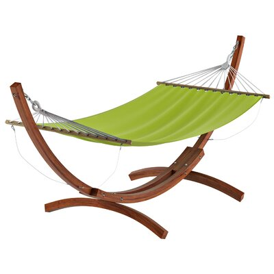 Beachcrest Home Grissom Free-Standing Hammock with Stand Color: Lime Green