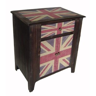 Union Jack 1 Drawer 2 Door Accent Cabinet by Cheungs