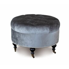 Hendrix Velda Round Ottoman by Eastern Accents