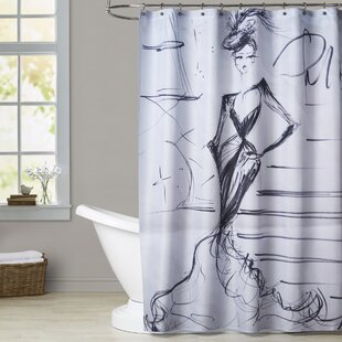 Darby A Night in Paris Single Shower Curtain