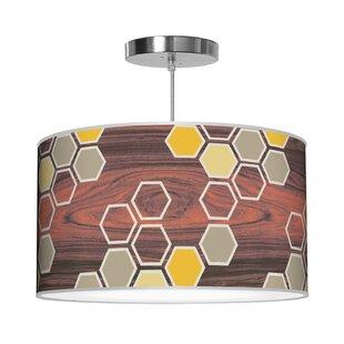Jef Designs Organic Modern Hex Pendant
