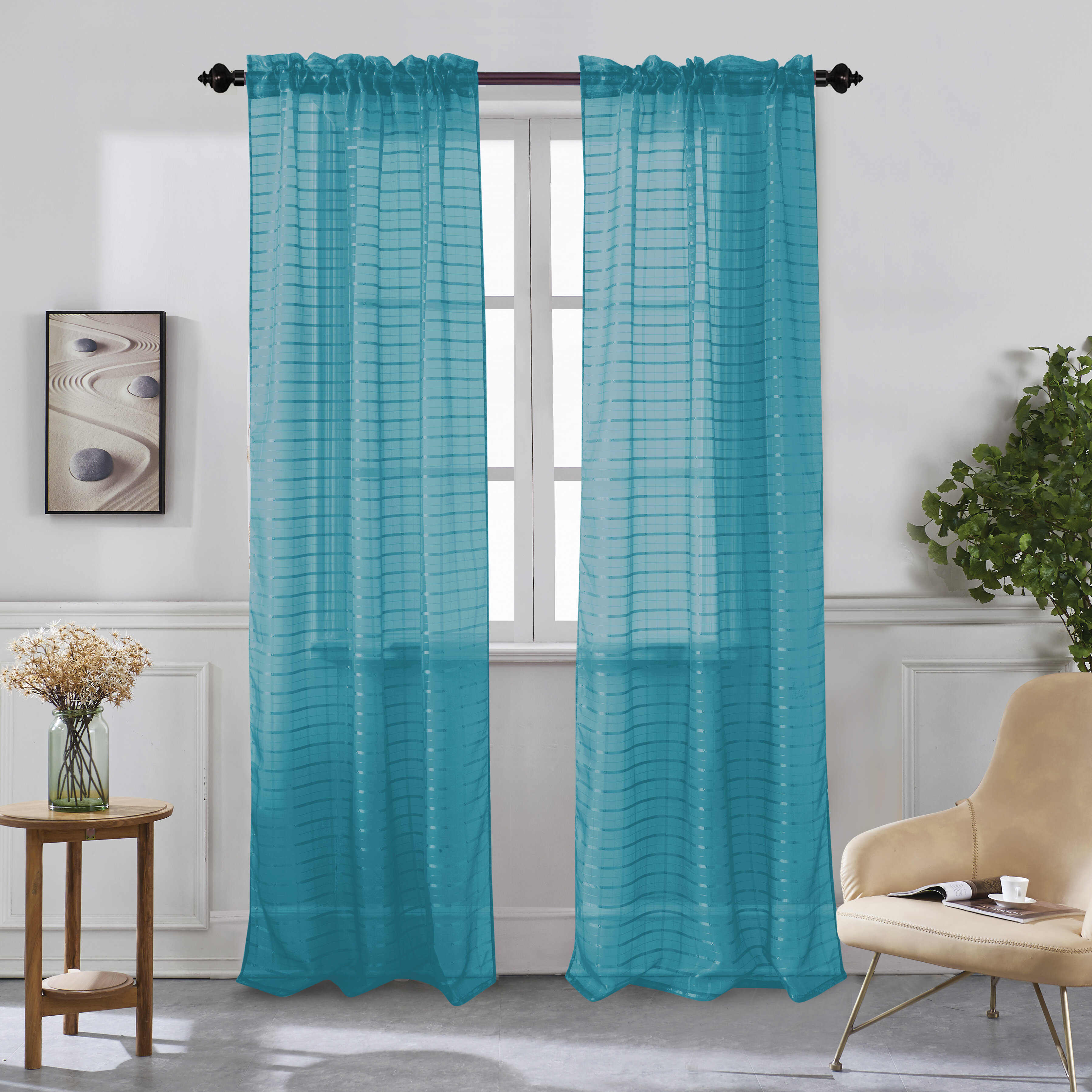 Hashtag Home Cranleigh Solid Sheer Rod