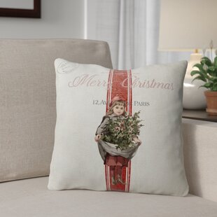 Kendele Christmas Girl Throw Pillow