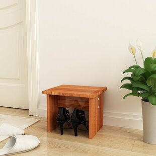 Rebrilliant Solid Wood Shoe Footstool