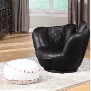 Best Knopf Kids Baseball Chair and Ottoman By Zoomie Kids