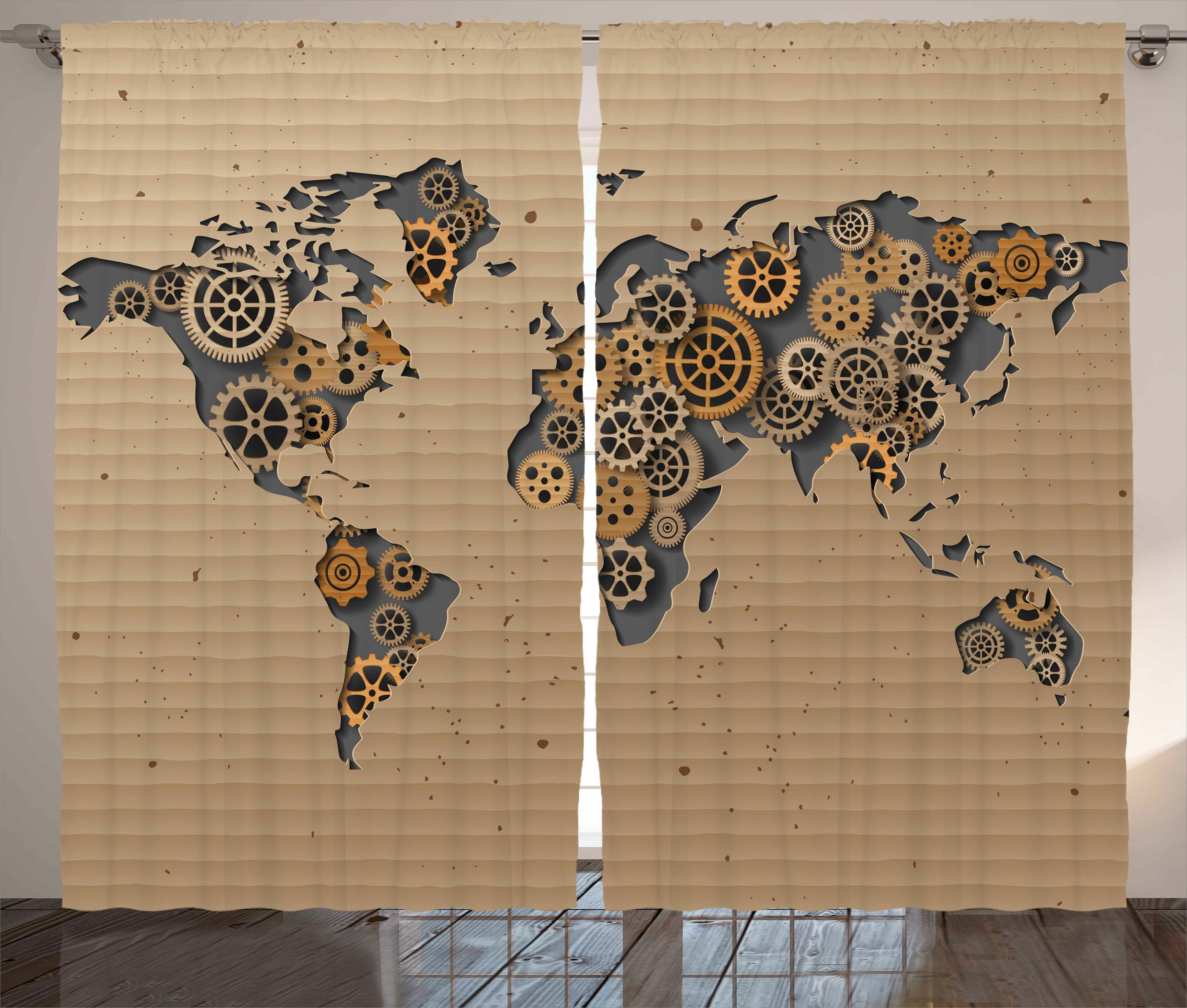 World Menagerie Yahoue Modern Graphic Print And Text Semi Sheer Rod Pocket Curtain Panels Wayfair
