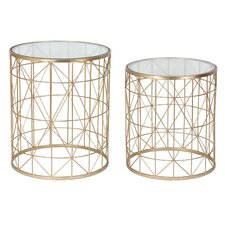 Metal 2 Piece Nesting Tables by Three Hands Co.