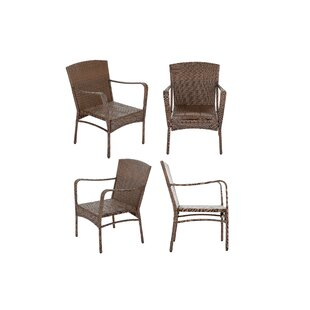 Dengler Outdoor Garden Stacking Patio Dining Chair (Set of 4)