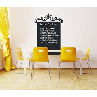 Kitchen Recipe Chalkboard Wall Decal