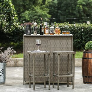 Bayou Breeze Kortright 3 Piece Bar Set