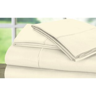 Dream Castle 600 Thread Count 100% Cotton Sateen Marrow Hem 6 Piece Sheet Set