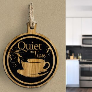 Quiet Time Coffee Tea Cup Wood Wall Décor