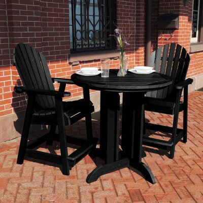 Gretchen Commercial Grade Adirondack 3 Piece Bistro Set by Rosecliff Heights Discount