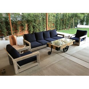 Dragon 3 Piece Sunbrella Sectional Set with Cushions by Brayden Studio