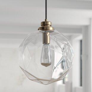 1-Light Geometric Globe Pendant by Mercury Row