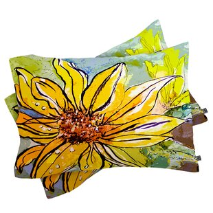 Ginette Fine Art Sunflower Ribbon Pillowcase