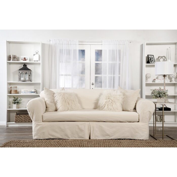 Astonishing Box Cushion Loveseat Slipcover Dailytribune Chair Design For Home Dailytribuneorg