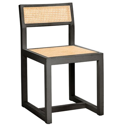 Abby Dining Chair Color: Black/Natural by Modern Rustic Interiors