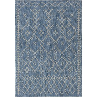 Gunter Bohemian Blue/Khaki Indoor/Outdoor Area Rug