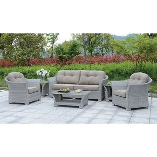 Isabeau 6 Piece Sofa Seating Group with Cushions