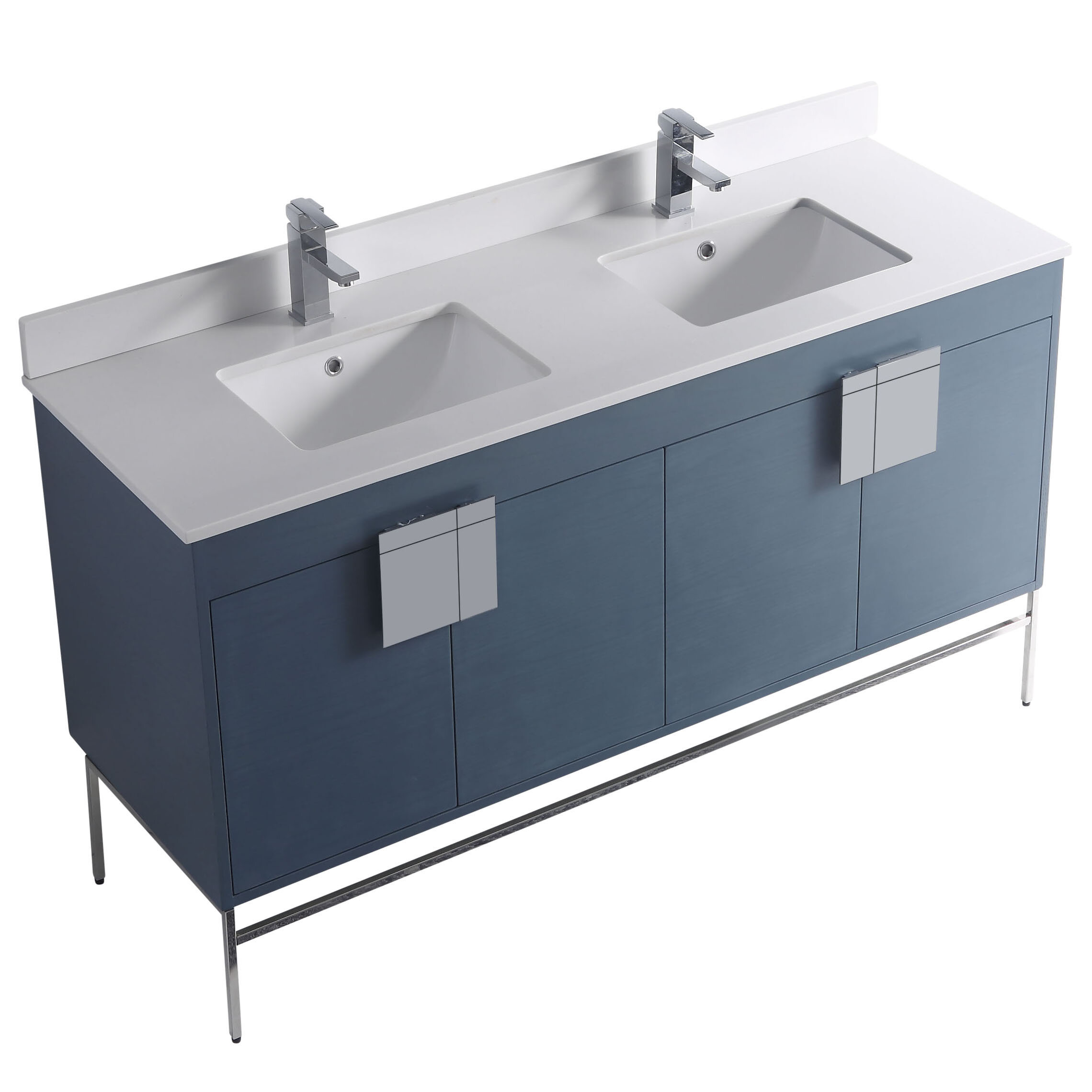 Lee 60 Double Bathroom Vanity Set Reviews Allmodern
