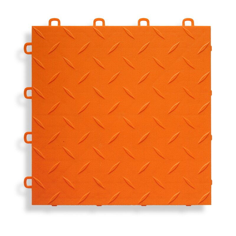 Garage Flooring Tile In Orange