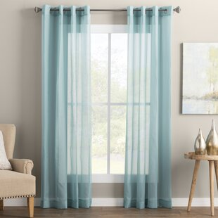 Wayfair Basics Solid Sheer Grommet Single Curtain Panel by Wayfair Basics™