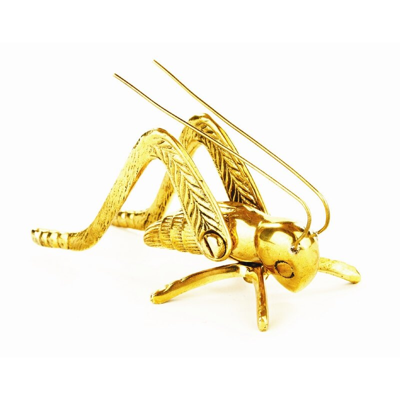 World Menagerie Barefoot Brass Cricket