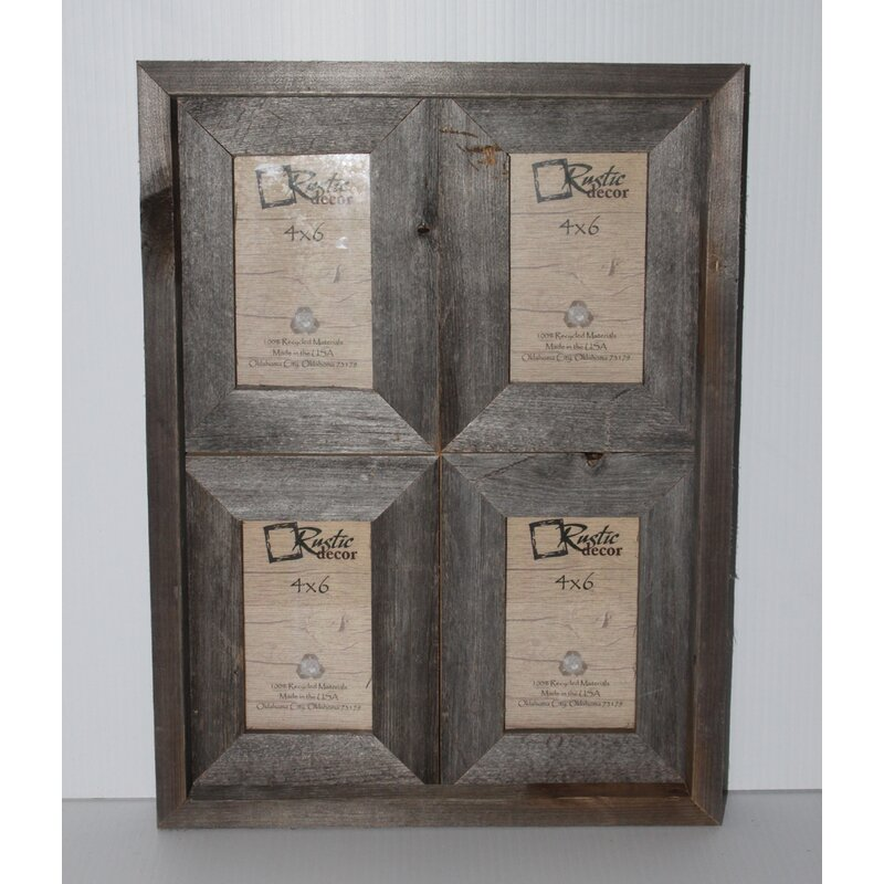rustic picture frames collages. Modren Rustic Ashbaugh Rustic Reclaimed Barn Wood Collage Picture Frame Inside Frames Collages