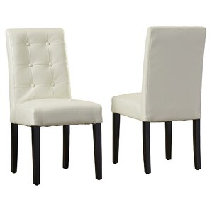 Pine Island Parsons Chairs in Ivory (Set ..