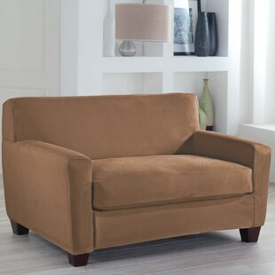Tailor Fit Box Cushion Loveseat Slipcover by Serta