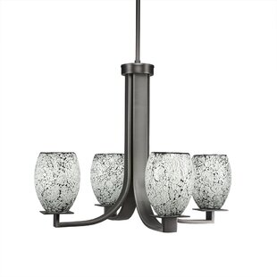 Latitude Run Besaw 4-Light Shaded Chandelier