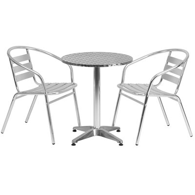 Kalavasos Round Indoor And Outdoor 3 Piece Bistro Set by Ebern Designs Comparison