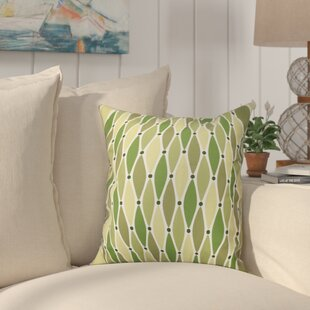Boubacar Wavy Outdoor Throw Pillow by Highland Dunes