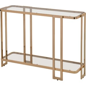 jewell glass and metal console table - Metal Console Table
