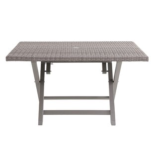 Purchase Specht 6 Person Folding Wicker Dining Table Inexpensive