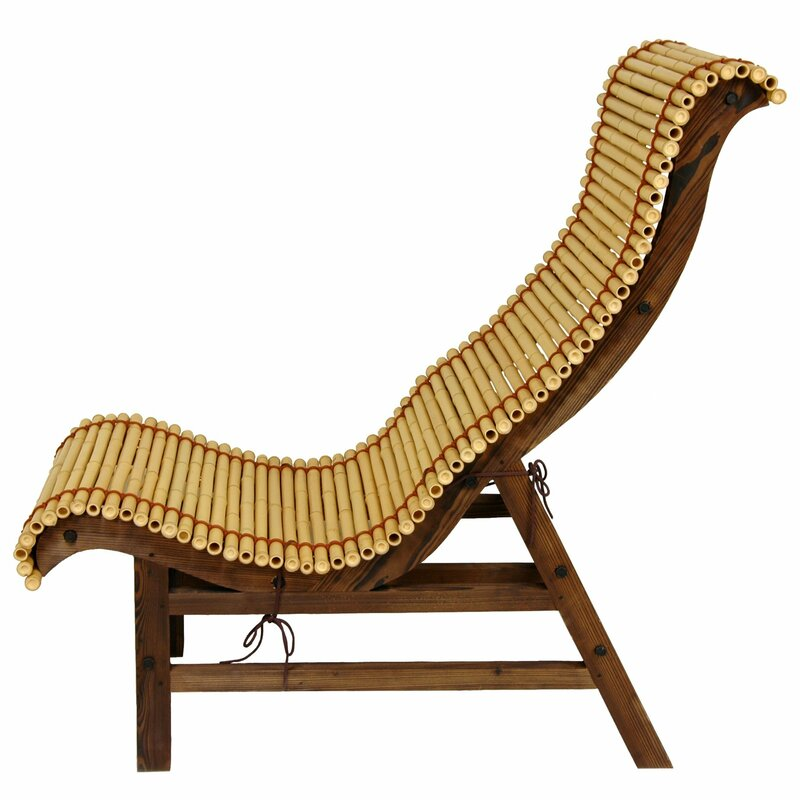 Bon Diane Curved Bamboo Lounge Chair