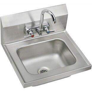 Bargain Metal 16 Wall Mount Bathroom Sink By Elkay