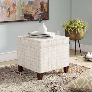 Carrol Windowpane Storage Ottoman