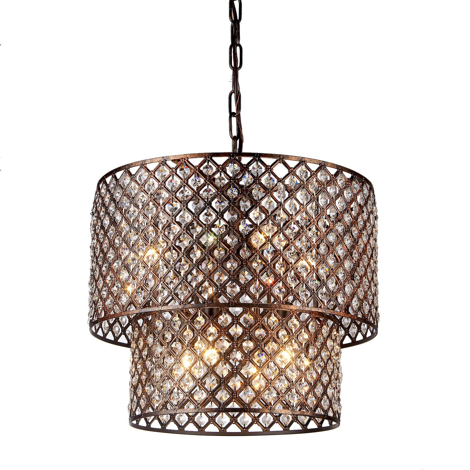 House of Hampton Clemence Crystal 8 Light Drum Chandelier