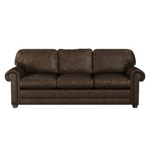 Oslo Leather Sofa Bed by Westland and Birch