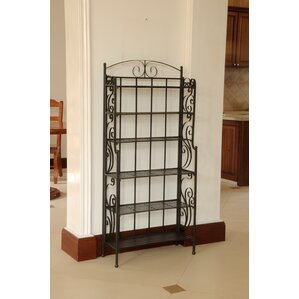 Snowberry Six Shelf Iron CD/DVD Rack b..