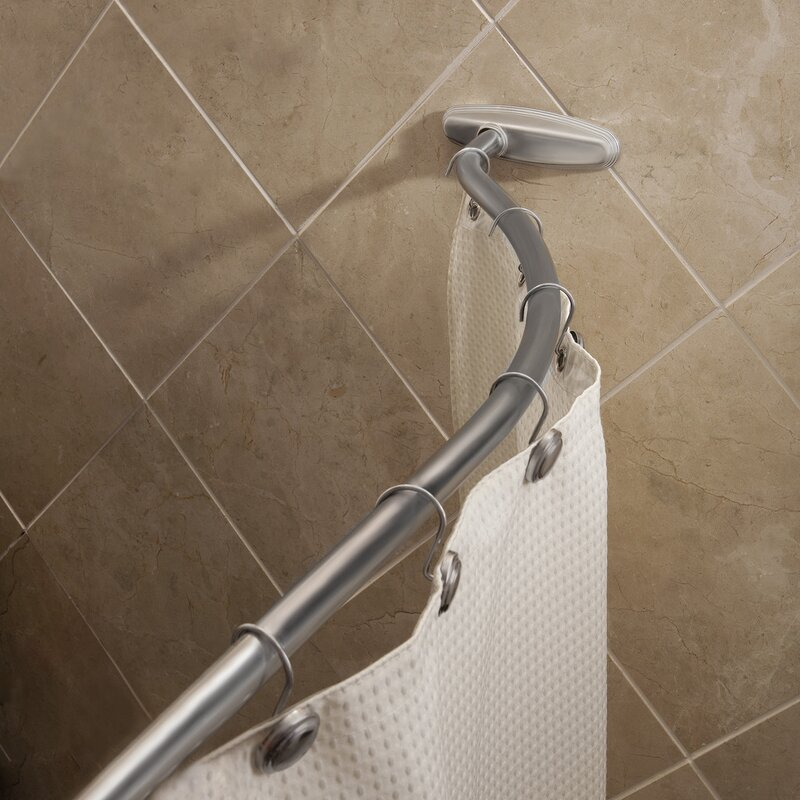 66 Adjustable Curved Shower Curtain Rod