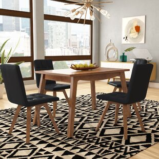 Wyckhoff 5 Piece Solid Wood Dining Set by George Oliver
