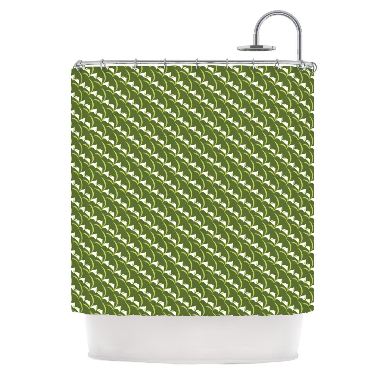 Bon East Urban Home Deco Calla Lily Shower Curtain | Wayfair