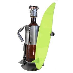Surfer 1 Bottle Tabletop Wine Rack